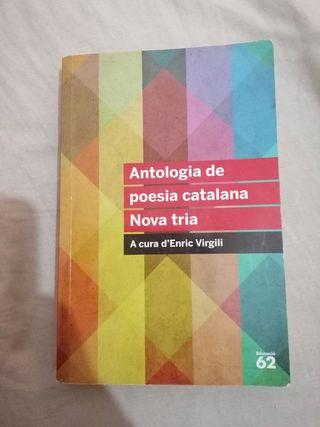 Libro de lectura Antalogia de poesía catalana