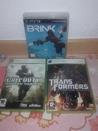 juegos xbox360 y play3