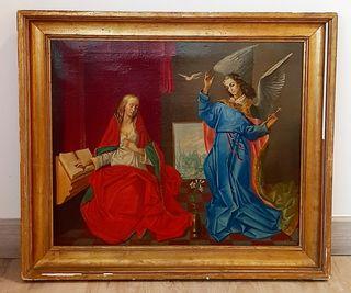 La Anunciación, óleo pintado por Ataulfo Casado