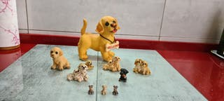 Lote de figuras de perros