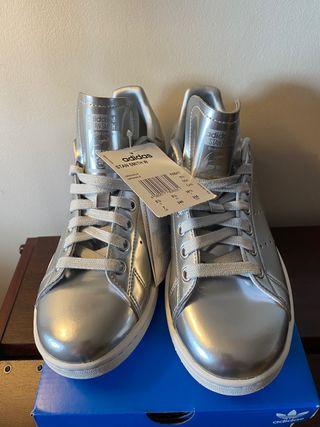 Zapatillas plateadas talla 38,5