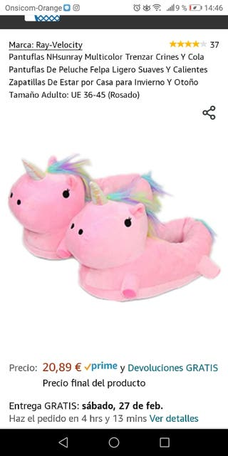 zapatillas casa mujer unicornio