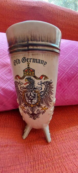 Cuerno para cerveza de ceramica