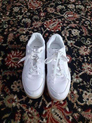 zapatillas bambas bershka blanca