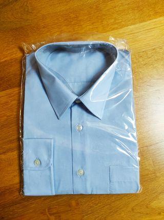 Camisa clásica azul para Hombre talla: L