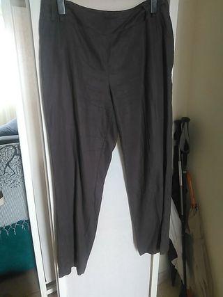 pantalon mujer lino