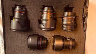 Kit ópticas Samyang 14,24,35,50,85mm Canon