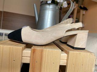 Zapatos beige Chanel inspo