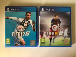 Videojuegos Fifa 19 y 16