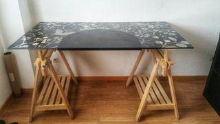 Mesa escritorio IKEA caballetes