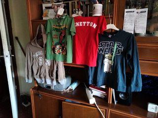 sudadera y camisetas