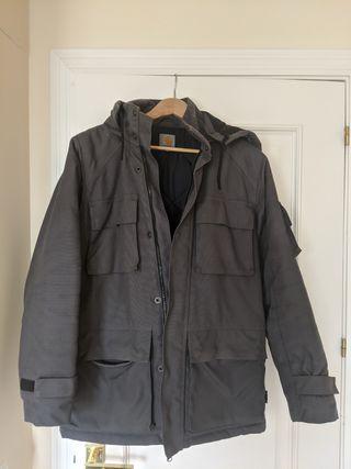 chaqueton carhartt gris (tejido cordura)