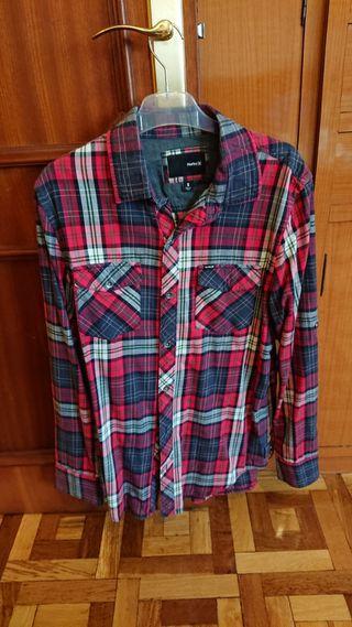 camisa cuadros hurley