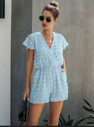 Vestido-Mono SHEIN Azul Turquesa
