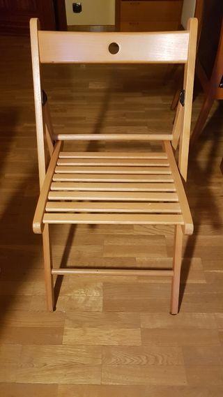 4.Sillas plegables madera