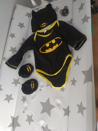 disfraz bebe body Batman superhéroe