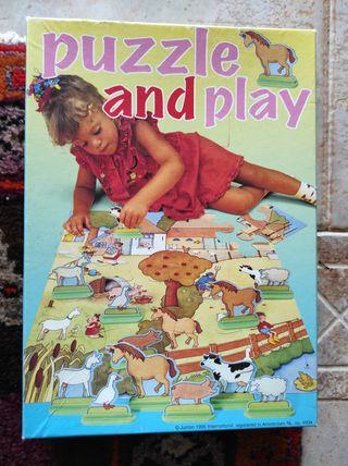 Puzzle granja con figuras