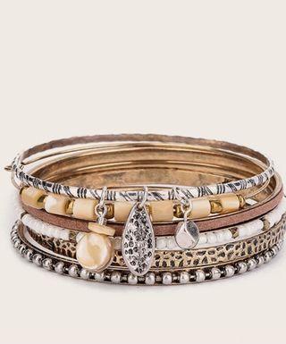 6 Piezas Pulsera Con Diseño De Perla