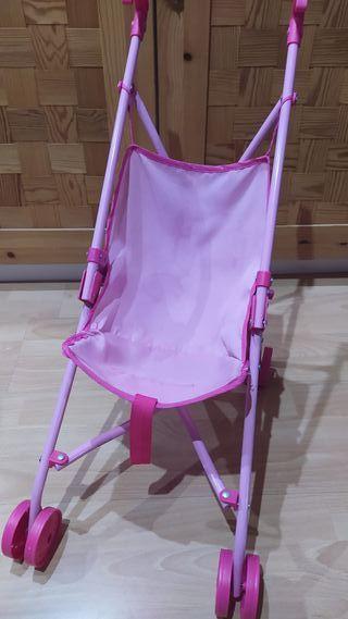 carrito silla paseo rosa muñecas juguete