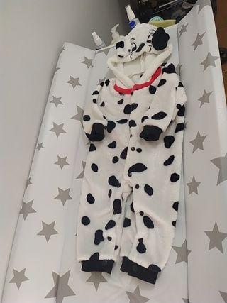 disfraz suave bebe dalmata perrito 4-6 meses