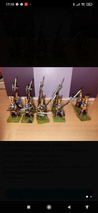 Warhammer altos elfos guardia del fenix