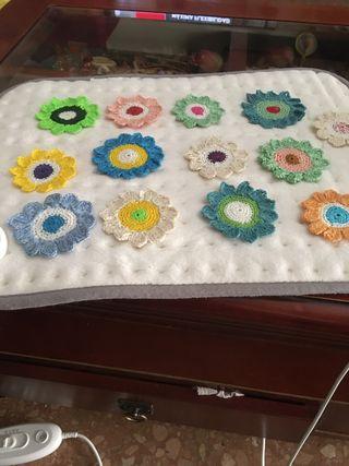 Flores ganchillo de hilo