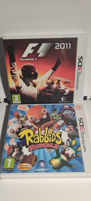 Rabbids Rumble + Formula1 2011 Nintendo 3DS