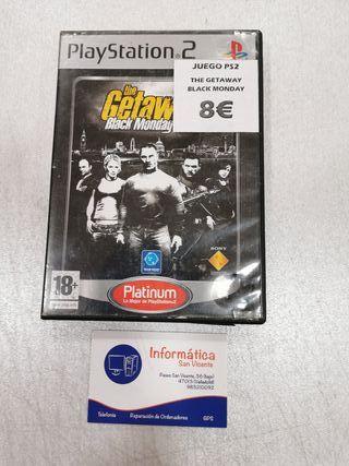 Videojuego The Getaway black monday/ PS2