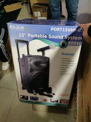 """IBIZA SOUND PORT15VHF-BT Altavoz 15"""" Bluetooth"""