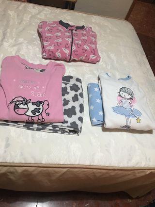 Lote de 3 pijamas para niñas, talla 13-14 años.