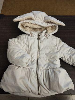 abrigo unisex con capucha de conejito 1-2 años