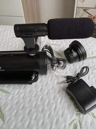 cámara de video con micrófono