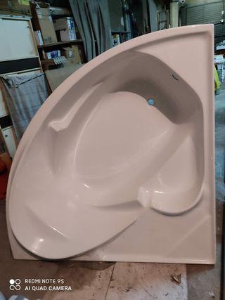 bañera esquinera deluxe fibra 1,60x1x60