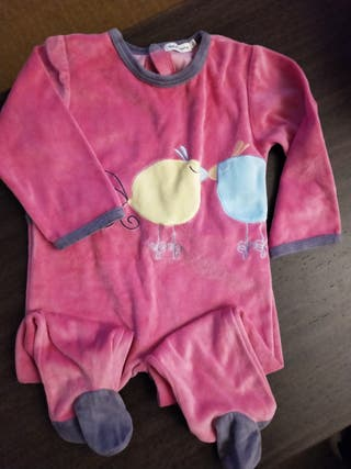 pijama niña 18 meses en terciopelo fucsia