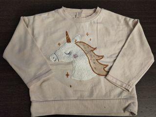 Sudadera niña con unicornio de Mothercare