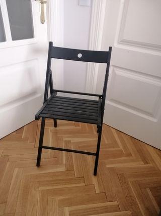 Silla plegable madera Ikea