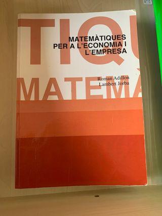 Matemàtiques per a l'economia i l'empresa