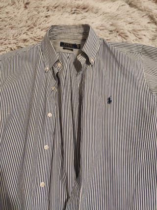 camisa Ralph lauren rayas azules talla L