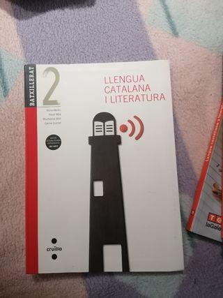 Libro de lengua catalana y literatura.