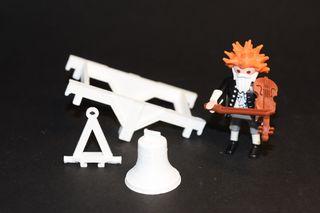 Playmobil 3D piezas de campanario
