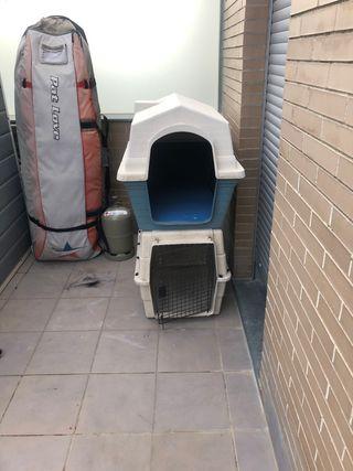 Caseta y transportin para perros medianos