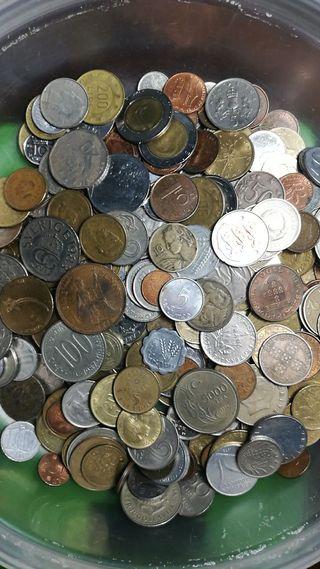 Lote de 1kg de Monedas de Todas Épocas y Países
