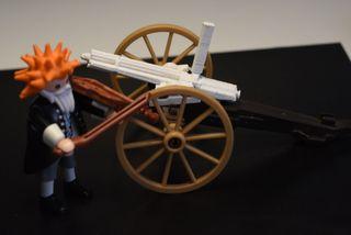 Playmobil 3D gatling arma para cañon oeste