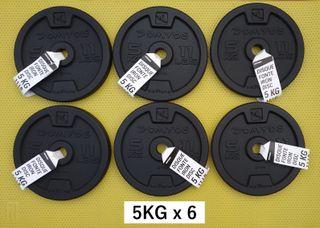 ENVÍO GRATIS 6 * 5kg discos musculación