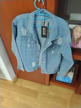 chaqueta tejana chico
