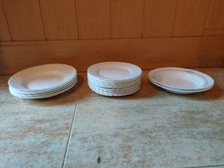 platos hondos, pequeños y grandes