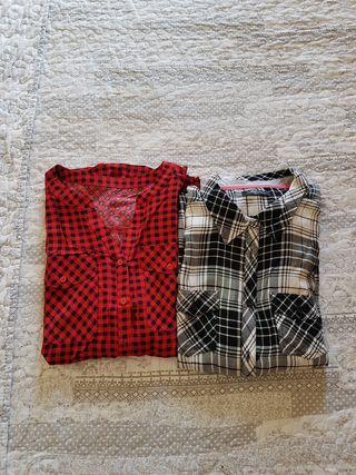 Lote 2 camisas a cuadros