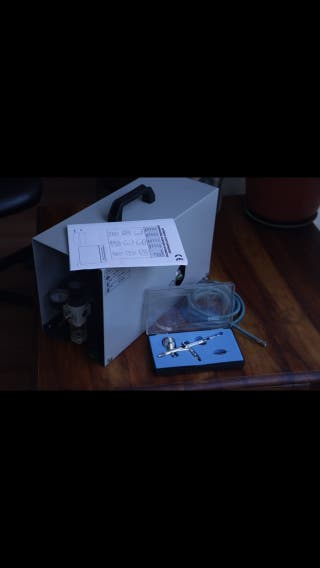Compresor Sil-Air 15A Nuevo + Aerógrafo