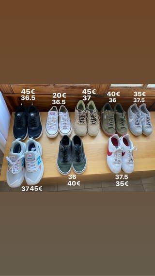 Zapatillas de varias marcas.