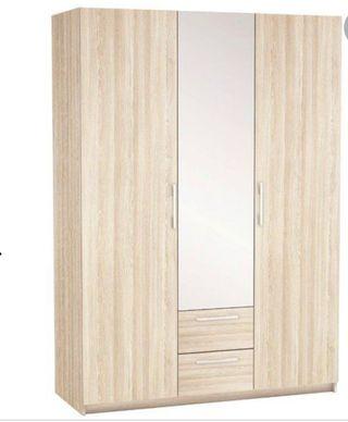 Armario con espejo color Wengue